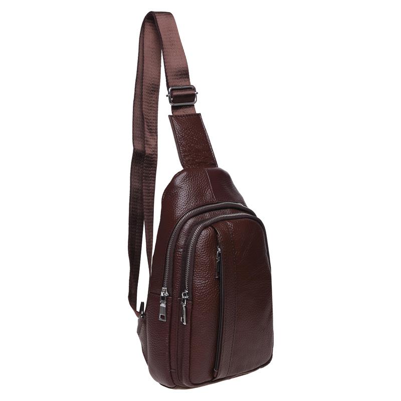 Мужской кожаный рюкзак через плечо Keizer 18498 - фото 1