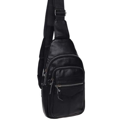 Мужской кожаный рюкзак через плечо Keizer 18499 - фото 1