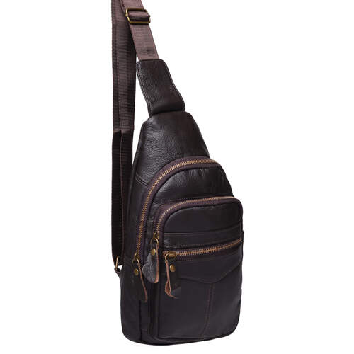 Мужской кожаный рюкзак через плечо Keizer 18500 - фото 1