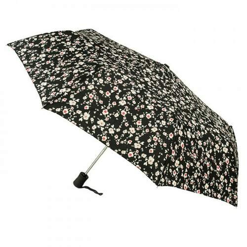 Зонт женский Fulton Open & Close-4 L346 Pink Posy (Розовый букет) 13586 - фото 1