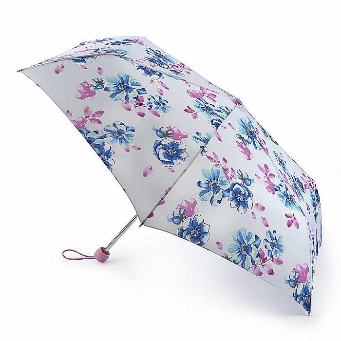 Зонт женский Fulton Superslim-2 L553 Pastel Petals (Милые лепестки) 13545 - фото 1