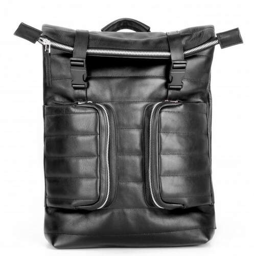 Кожаный рюкзак JIZUZ MOTTO BLACK 11568 - фото 1