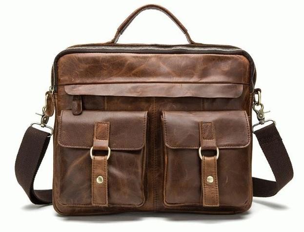Мужская кожаная сумка Buffalo Bags 6118 - фото 1