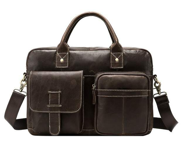 Мужская кожаная сумка Buffalo Bags 12674 - фото 1