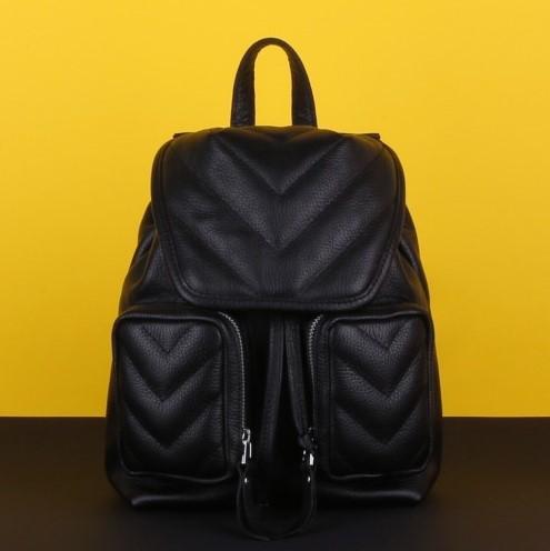 Кожаный рюкзак MAGNIFICO BLACK 12466 - фото 1