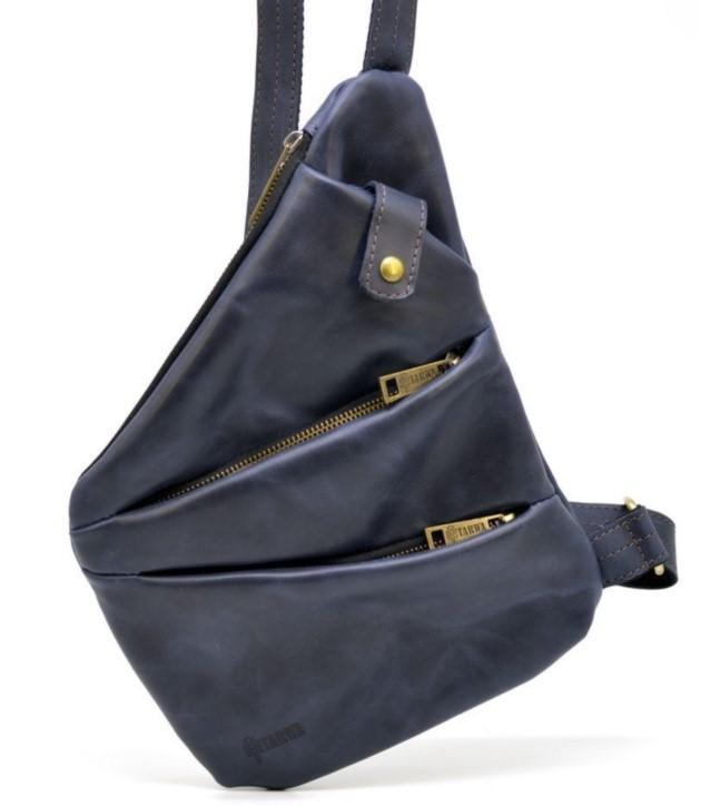 Кожаный рюкзак на одно плечо TARWA 19375 - фото 1