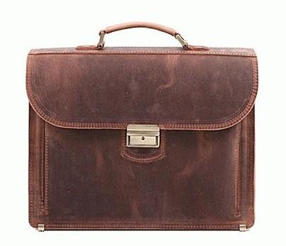 Деловой кожаный портфель RVM-1R 5205 - фото 1