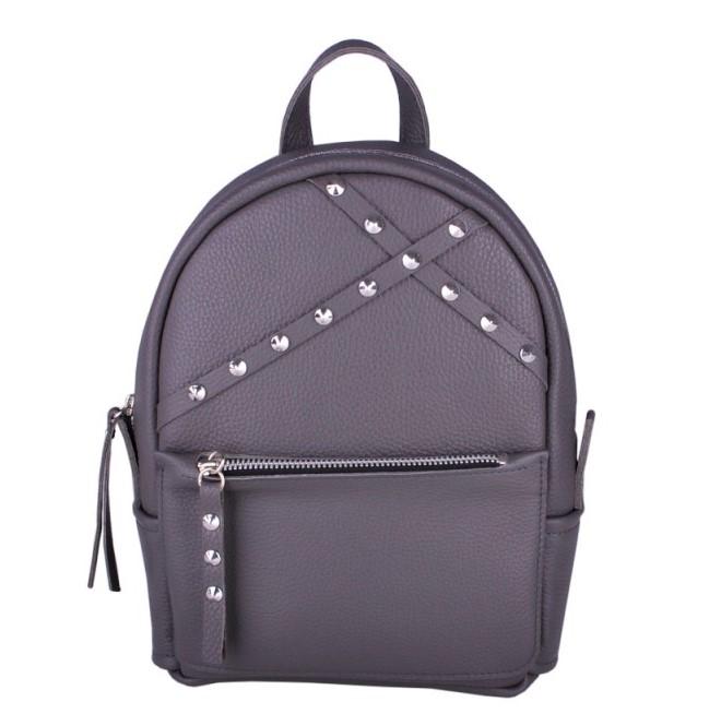 Кожаный рюкзак JIZUZ SAKURA DARK GREY 11605 - фото 1