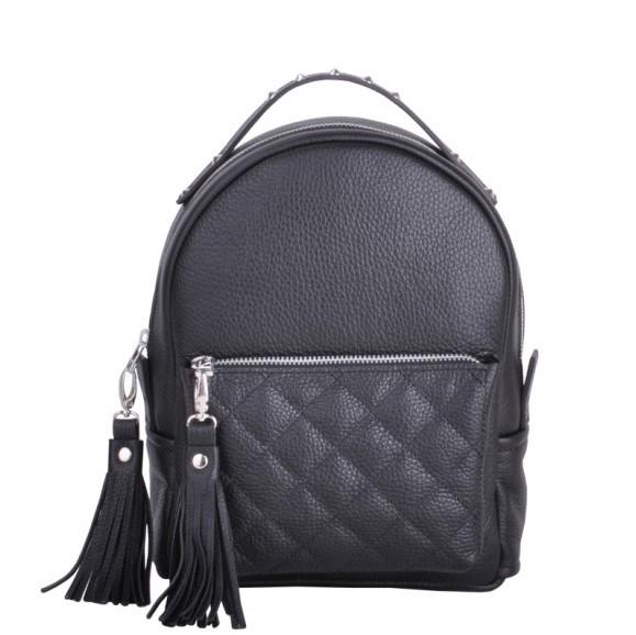 Кожаный рюкзак JIZUZ SPORT NEW BLACK 11672 - фото 1