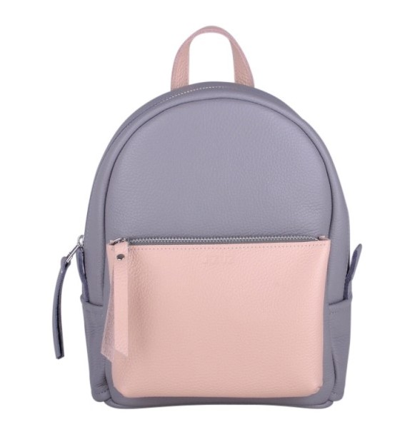 Кожаный рюкзак JIZUZ SPORT DOUBLE NEW (GREY/NUDE) 11666 - фото 1