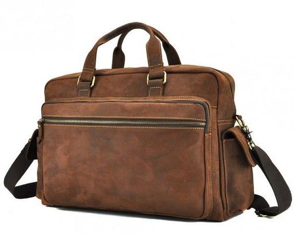 "Кожаная сумка Tiding для ноутбука 15"" 12663 - фото 1"