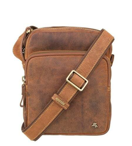 Мужская кожаная сумка Visconti Riley 19404 - фото 1