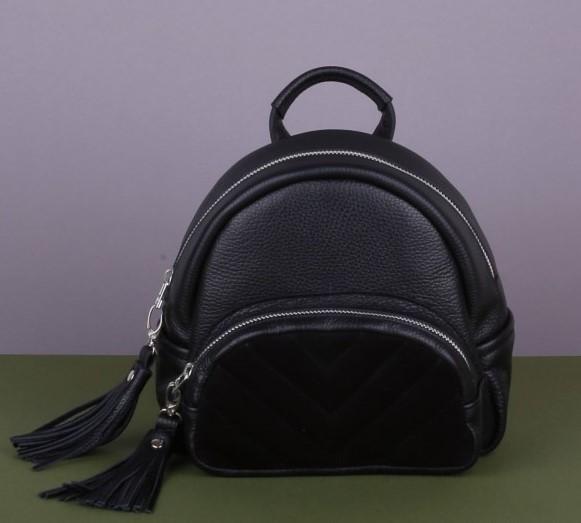 Кожаный рюкзак TURISMO BLACK 12468 - фото 1