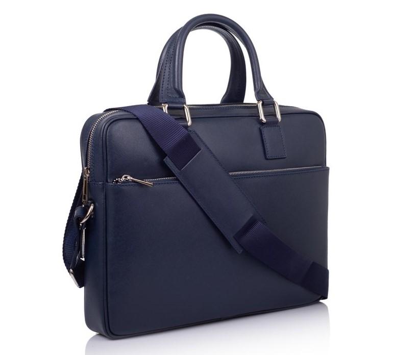 Мужской кожаный портфель Virginia Conti (Италия) 10644 - фото 1