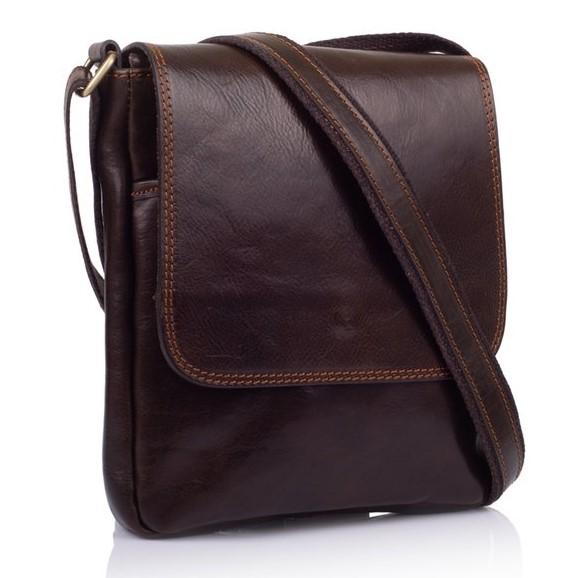 Кожаная сумка-мессенджер Virginia Conti (Италия) 12512 - фото 1