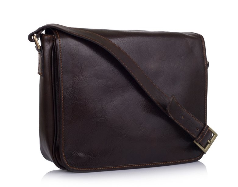 Кожаная сумка-мессенджер Virginia Conti (Италия) 11374 - фото 1