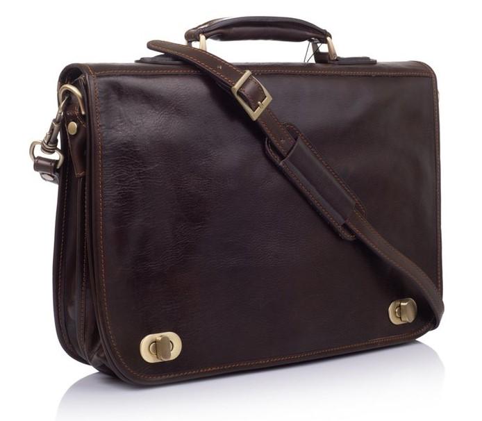 Мужской кожаный портфель Virginia Conti (Италия) 12243 - фото 1