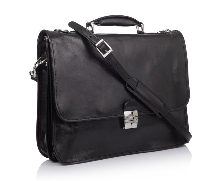 Мужской кожаный портфель Virginia Conti (Италия) 10650 - фото 1