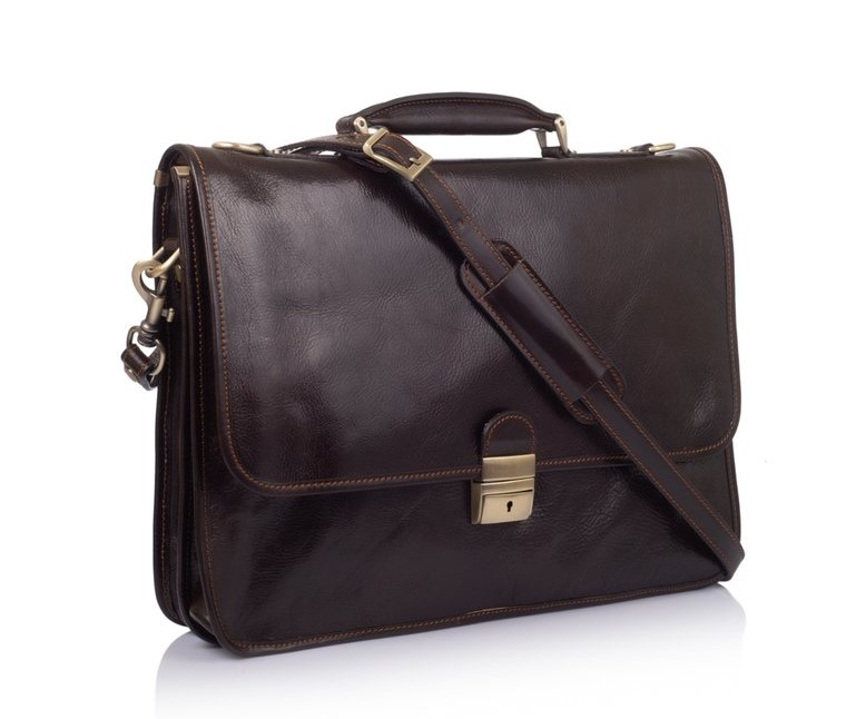 """Кожаная сумка для ноутбука 15,6"""" Virginia Conti (Италия) 12245 - фото 1"""