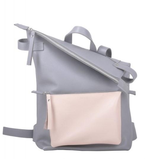 Кожаный рюкзак JIZUZ VOYAGER GREY/NUDE 11675 - фото 1